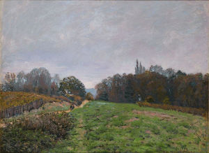Alfred Sisley - Ландшафта Louveciennes