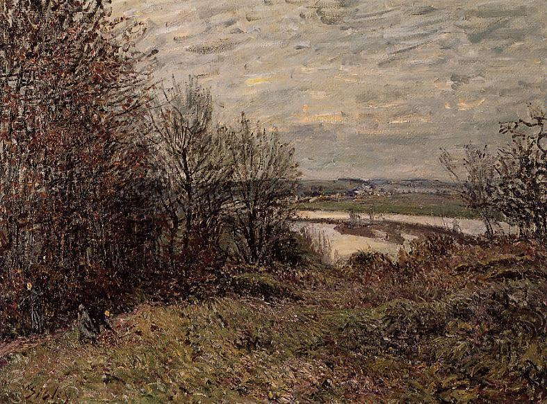 Roches Courtaut Вуд около  около , холст, масло по Alfred Sisley (1839-1899, France)