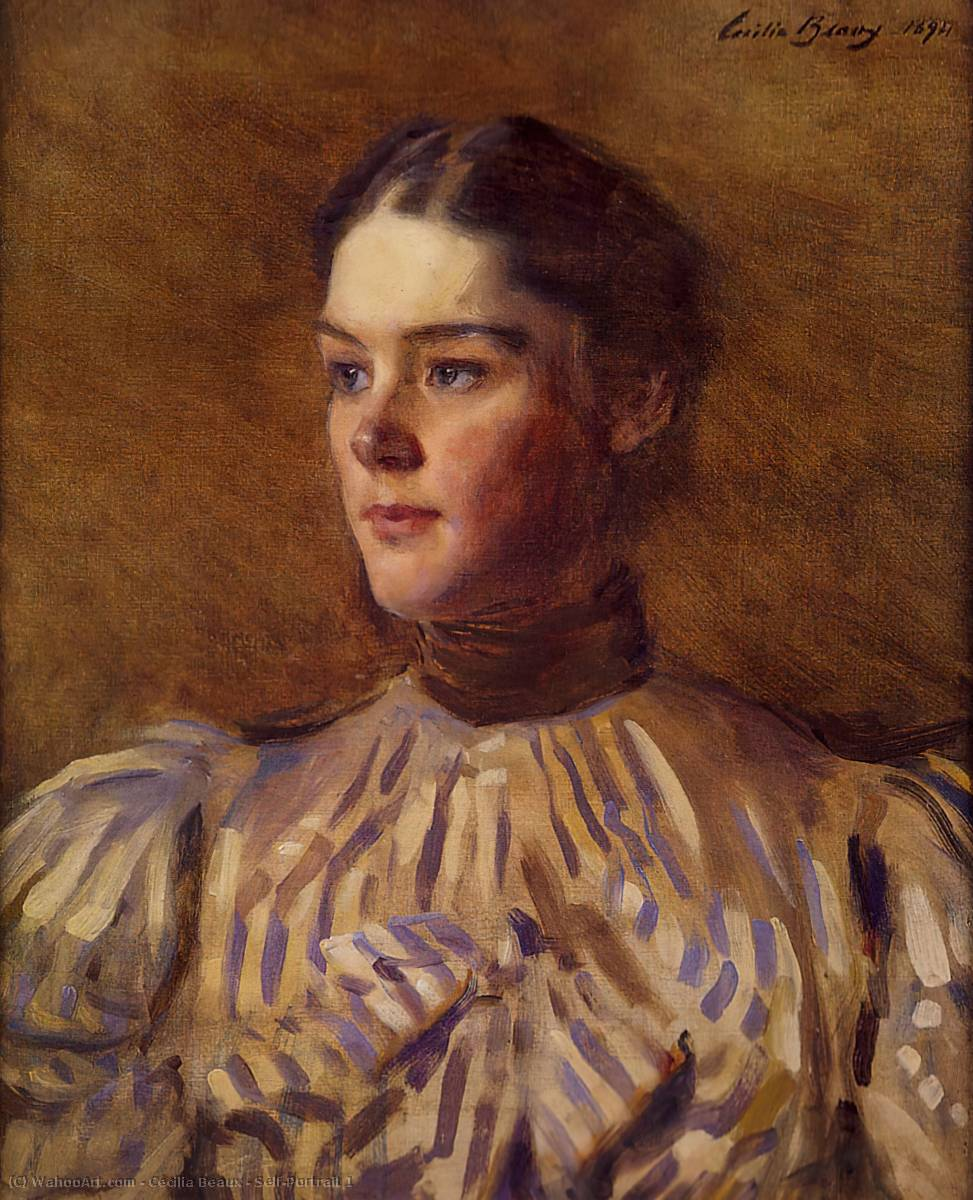 Self-Portrait 1, масло по Cecilia Beaux (1855-1942, United States)