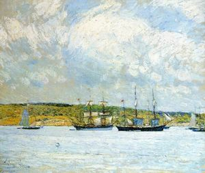 Frederick Childe Hassam -   Парад  самого  лодок