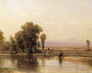 Thomas Worthington Whittredge - Лагерь на реке Платт