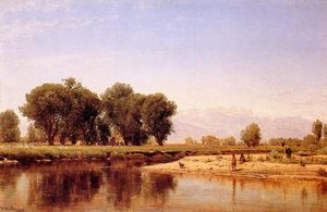 Thomas Worthington Whittredge - Индийский Emcampment на реке Платт