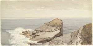 William Trost Richards - Скалы на берегу