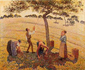 Camille Pissarro - Apple, сборщики, Eragny