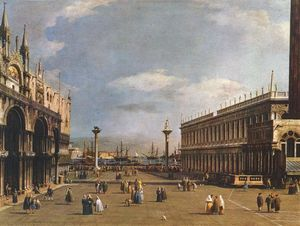 Giovanni Antonio Canal (Canaletto) - на пьяццетта
