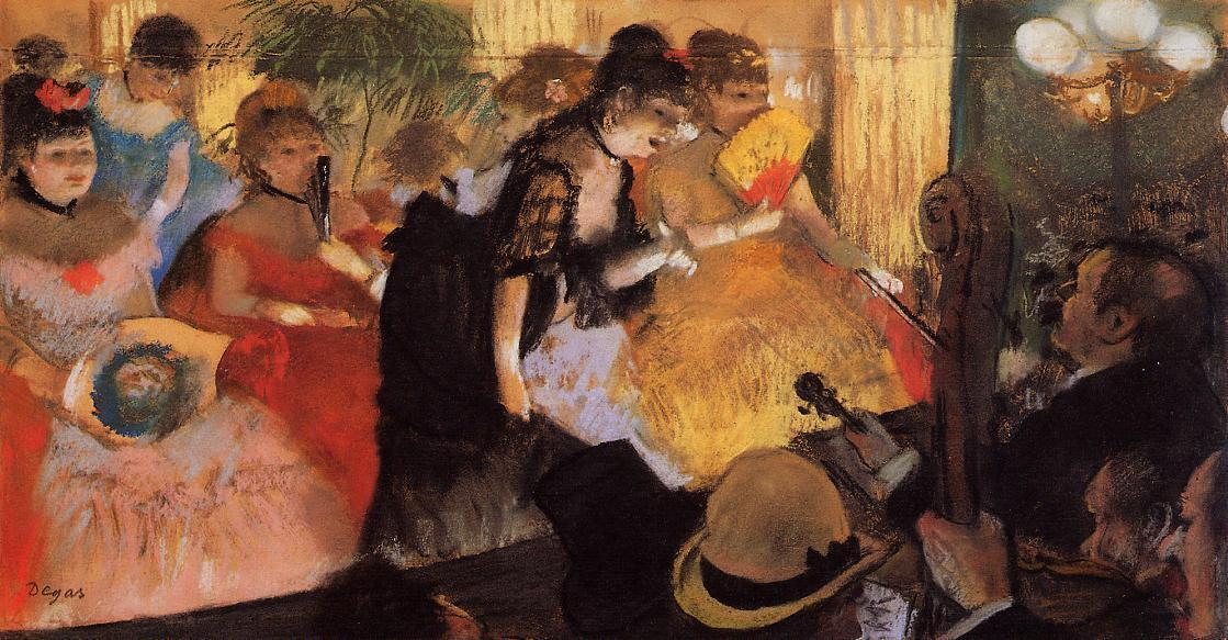 Кафе концерт, 1877 по Edgar Degas (1834-1917, France) | Картина Копия | WahooArt.com