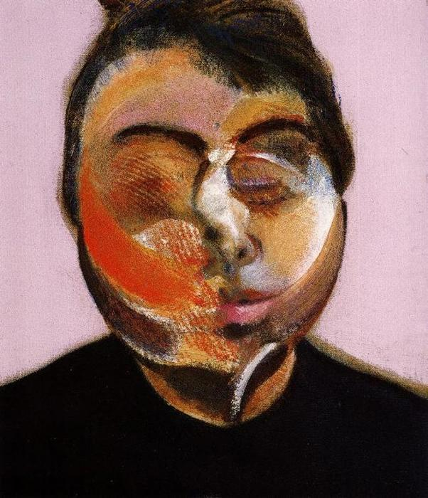 Автопортрет 5  , масло по Francis Bacon (1909-1992, Ireland)