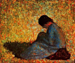 Georges Pierre Seurat - Mujer sentada Ен Ун Прадо