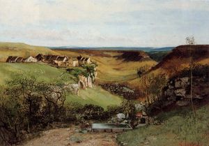 Gustave Courbet - Шато д Ornans