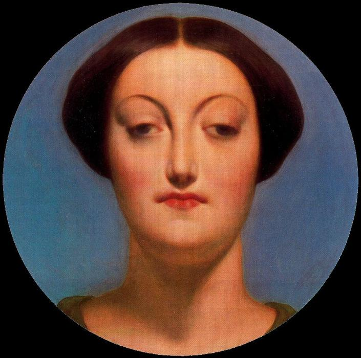 Портрет де Мадам Graudry, масло по Jean Auguste Dominique Ingres (1780-1867, France)