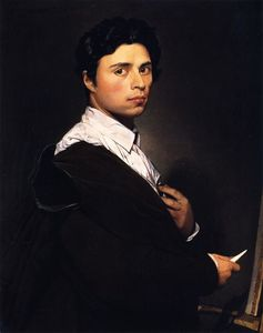 Jean Auguste Dominique Ingres - Автопортрет в мольберт
