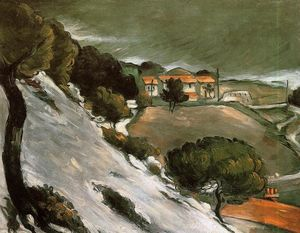 Paul Cezanne - L Estaque под снегом
