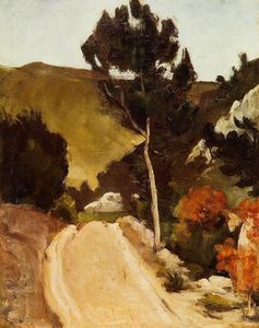 Paul Cezanne - Winding Road в Провансе