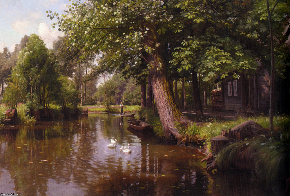 Flodbred по Peder Mork Monsted (1859-1941, Denmark)