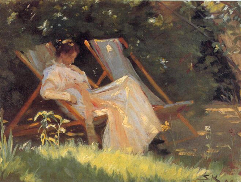 Мари ан El Jardin по Peder Severin Kroyer (1851-1909, Norway)