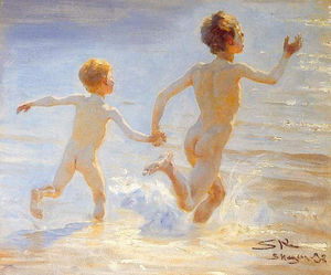 Peder Severin Kroyer - Плайя-де-Skagen 1