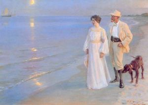 Peder Severin Kroyer - Тард де verano ан Skagen