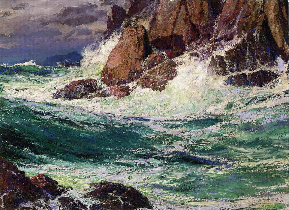 Бурные морей по Edward Henry Potthast (1857-1927, United States)