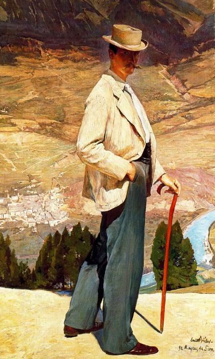 Портрет художника Отто Vautier по Ernest Bieler (1863-1948, Switzerland)