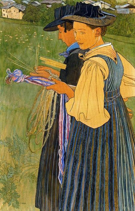 Солома Плетение по Ernest Bieler (1863-1948, Switzerland)