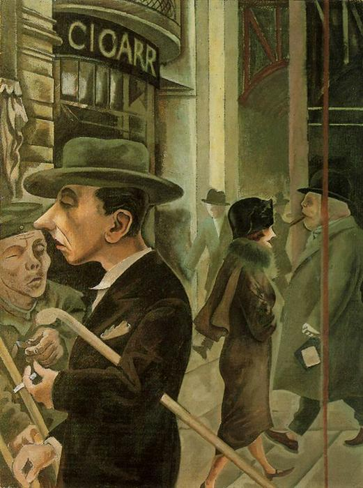 Уличная сцена . Kurfüstendamn по George Grosz (1893-1959, Germany) |  | WahooArt.com