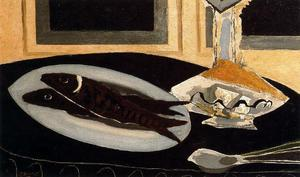 Georges Braque - Графин и рыба