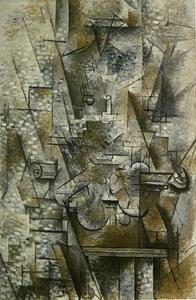Georges Braque - натюрморт с    Скрипка
