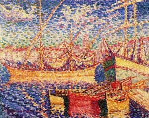 Henri Edmond Cross - Лодки в порт св . Tropez