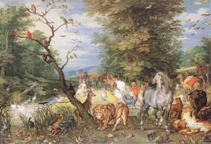 Jan Brueghel The Elder - The Animals Ввод Ковчег