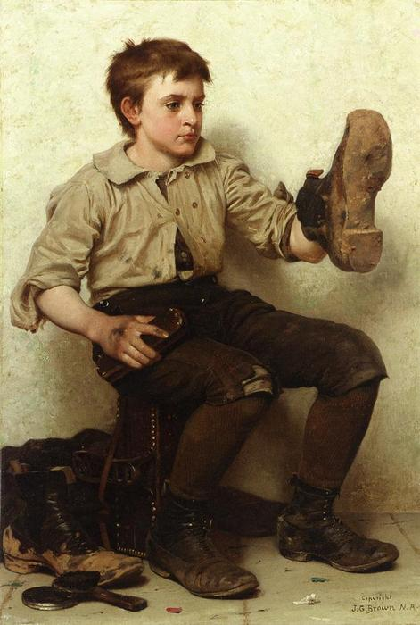 Джерси Грязь, 1887 по John George Brown (1831-1913, United Kingdom) | WahooArt.com