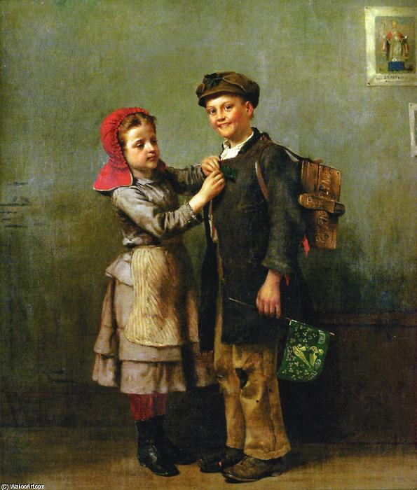День Святого Патрика, 1877 по John George Brown (1831-1913, United Kingdom) | WahooArt.com