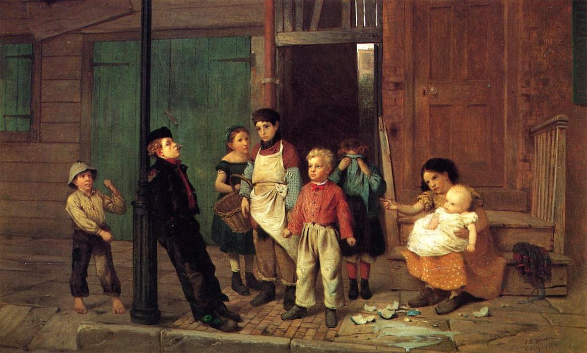 Bully в окрестности по John George Brown (1831-1913, United Kingdom)