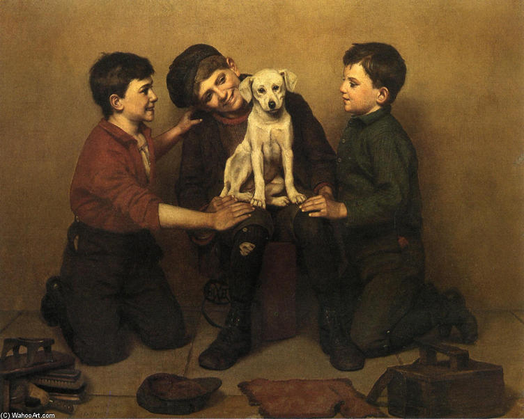 Подкидыш, 1907 по John George Brown (1831-1913, United Kingdom)