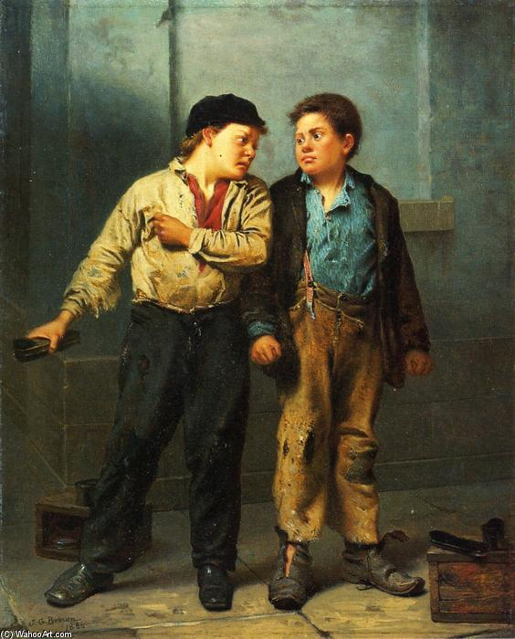 Ссора, 1866 по John George Brown (1831-1913, United Kingdom) | WahooArt.com