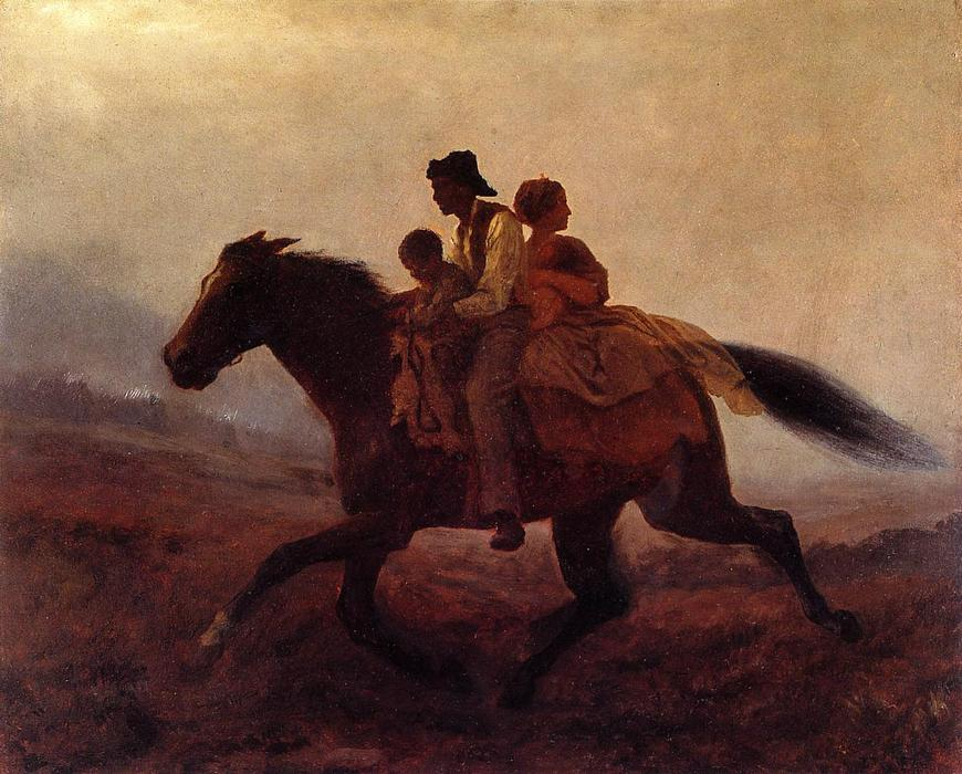 поездка для Freedom - беглец Рабы по Jonathan Eastman Johnson (1824-1906, United Kingdom)