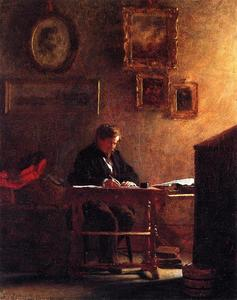 Jonathan Eastman Johnson - автопортрет 1