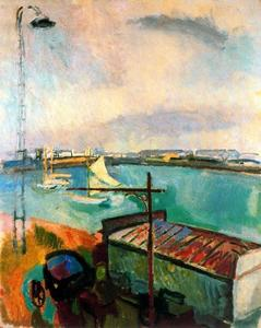 Raoul Dufy - Порт of Ле Havre 1