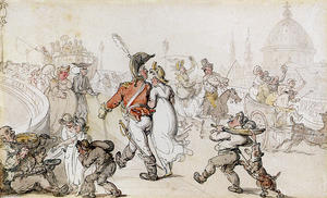 Thomas Rowlandson - Элегантный Компания На Blackfriars моста