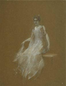 Thomas Wilmer Dewing - Леди в белом 1