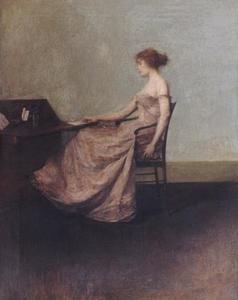Thomas Wilmer Dewing - Письмо