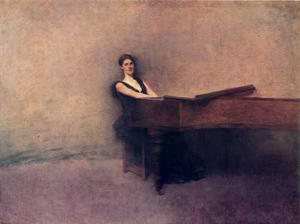 Thomas Wilmer Dewing - фортепиано