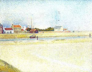 Georges Pierre Seurat - Канал в Gravelins, Гранд-Форт-Филипп