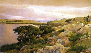 William Trost Richards - Скалы с видом залива