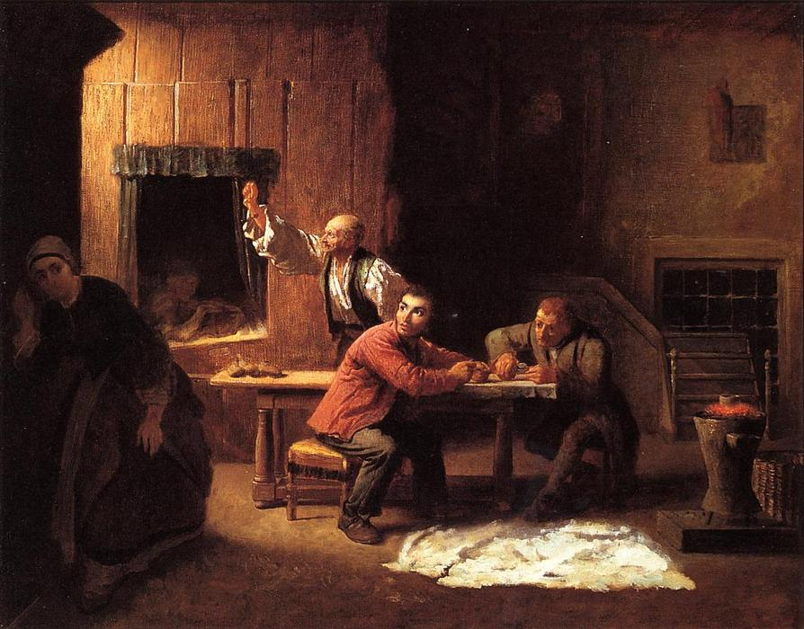 Фальшивомонетчики, 1853 по Jonathan Eastman Johnson (1824-1906, United Kingdom) | WahooArt.com