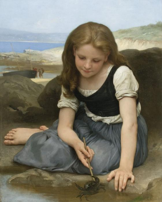 ту Краб по William Adolphe Bouguereau (1825-1905, France)
