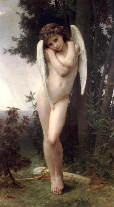 Cupidon ( известно также, as Амур ), 1875 по William Adolphe Bouguereau (1825-1905, France) | WahooArt.com