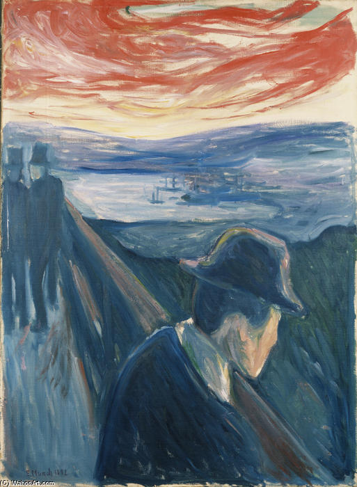 Отчаяние, 1892 по Edvard Munch (1863-1944, Sweden)