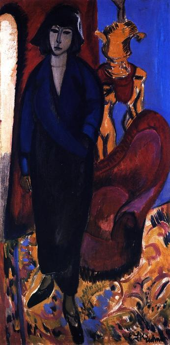 Die Руссин, 1912 по Ernst Ludwig Kirchner (1880-1938, Germany)