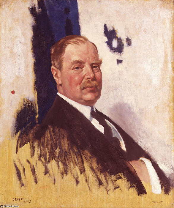 Эдвард Джордж Вильерс Stanley 17 граф Дерби по William Newenham Montague Orpen (1878-1931, Ireland)