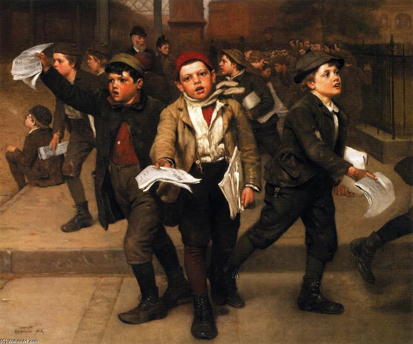 Срочно!, 1889 по John George Brown (1831-1913, United Kingdom)